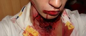 Charakteryzacja #13 – szyja zombie