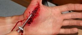 Charakteryzacja #18 – Rana cięta wnętrza dłoni